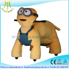 Hansel factory price amusement park battery operated ride animals ride on furry animal