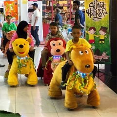 Hansel high quality facory price cheap kids rides animales peluche toys sale