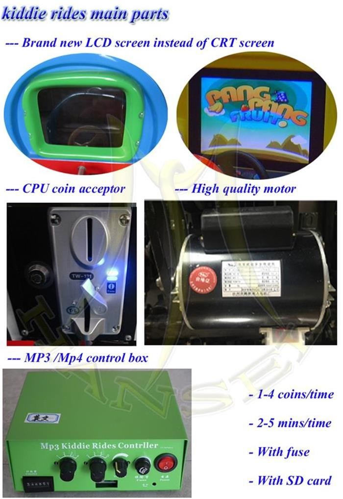 Hansel low price india coin operated game machine used kiddie ride on car 2016