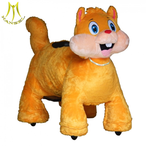 Hansel plush motorized animals toy ride on animal and animal scooters