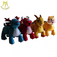 Hansel china walking animal ride battery operated plush toys stuffed animal for kids