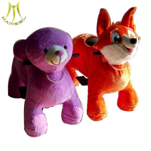 Hansel motorized bicycle robot animals for sale and motorized plush riding animals from guangzhou with baby ride on car Christma gifts kids token ride