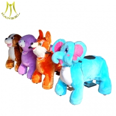 Hansel wholesale coin operated animal scooters rideable horse plush supplier indoor zoo kids riders plush ride on animal battery walking ride