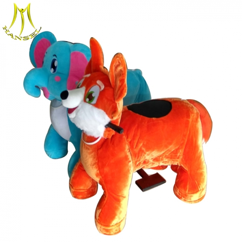 Hansel electric ride on animals plush animal electric scooter in Guangzhou plush riding motorized animals theme park equipment for sale