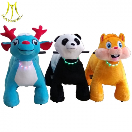 Hansel children ride on animal toy car factory and customized coin operated animal ride quotation with china animal scooter supplier