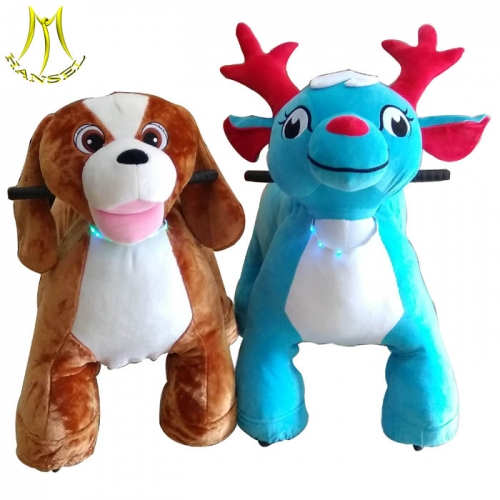 Hansel china rides on unicorn motorized plush and cheap battery operated plush animal ride with mechanial horse riding animal price list