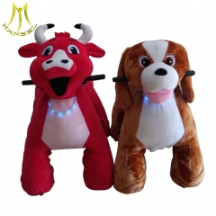 Hansel plush motorized plush riding animals wholesale with china commercial ride on animals with discount electric animal ride from china